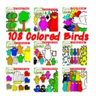 These 108 Colored Birds Full  Set are cliparts in 300 Jpeg and Png Format for personal and commercial use.  9 sets of cliparts:  * 12 Colored Birds...
