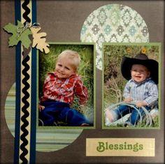 Blessings simple scrapbook layout DIY