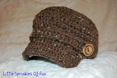 FREE PATTERN Little Sprinkles of Fun: Crocheted Newsboy Hat