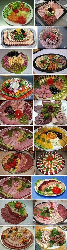 18 Catering Pins to check out - ideas - Buffet Ideen Appetizers For Party, Appetizer Recipes, Appetizers Table, Brunch Recipes, Catering, Meat Platter, Meat Trays, Deli Tray, Cheese Trays