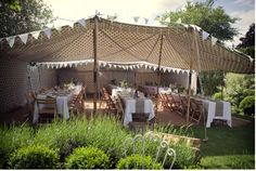 great twist on a standard garden marquee