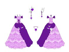 Amethyst Dress Design by Eranthe.deviantart.com on @deviantART
