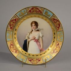 ROYAL VIENNA CABINET PLATE, 19th century; : Lot 545
