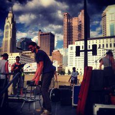 The Floorwalkers at Waterfire Columbus! Photo by @thefloorwalkers