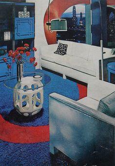 Mod Graphic Urban Apartment Vintage Interior Design Photo by Christian Montone. Mid-century Interior, Vintage Interior Design, Interior Design Photos, Modern Interior, Interior Decorating, 1970s Decor, Retro Home Decor, Vintage Decor, Retro Vintage