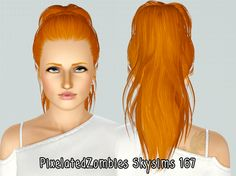 High wrapped ponytail hairstyle Skysims 167 retextured by Pixelated Zombies for Sims 3 - Sims Hairs - http://simshairs.com/high-wrapped-ponytail-hairstyle-skysims-167-retextured-by-pixelated-zombies/