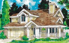 Eplans Country House Plan - Four Bedroom Country - 1642 Square Feet and 4 Bedrooms from Eplans - House Plan Code HWEPL59750