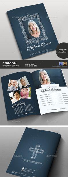 Funeral Program Template Program template, Brochure template and - funeral brochure template