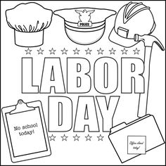 Get ready for Labor Day with this printable coloring page. | Free ...