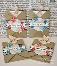 C@ro's kaartjes: Envelope Punch Board Birthday Wishes