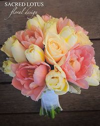 posies. Double tulips and roses