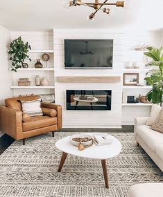 Cozy Living Rooms, New Living Room, Home And Living, Living Room Decor, Modern Living, Living Room White Walls, Living Room Seating, Apartment Living, Living Area