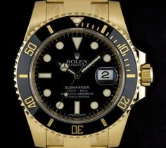 Rolex Unworn Submariner Date 18k Yellow Gold Black Dial Gents B&P 116618LN