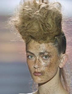Vivienne Westwood Gold Label SS14   //  Make-up Artist: Val Garland for MAC