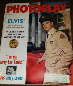 1958 Photoplay Magazine  Elvis Presley by 3LittleWitches on Etsy
