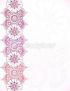 Floral Henna Border Royalty Free Stock Vector Art Illustration