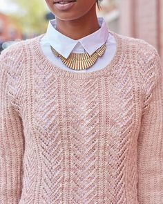 Arabella. Love the pattern - sleeves and body are great minus the connection at the sides - could this be knit in the round?