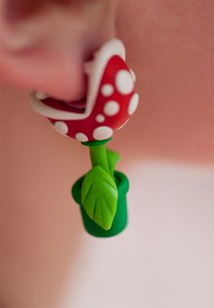 Super Mario Bros. Piranha Plant Earrings