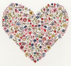 Love Heart Cross Stitch Kit from Bothy Threads from £24.25 - Past Impressions
