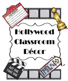 Are you planning for next year?  How about a Hollywood Movie theme?  Check out this bundle of classroom decor!
