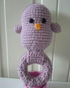 Crochet rattle, bird rattle, babyshower gift