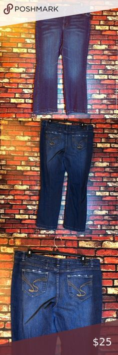 Jessica Simpson Womens Plus SZ Mika Best Friend Relaxed Fit Jean Wright