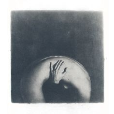 "Rachel Fee; Black & White, Photography ""She"". No further info from Saatchi Online but looks like this artist uses alternative processes such as cyanotype."
