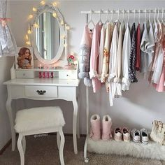 Find images and videos about pink, clothes and room on We Heart It - the app to get lost in what you love. Bedroom Decor For Teen Girls, Cute Bedroom Ideas, Girl Bedroom Designs, Kawaii Bedroom, My New Room, Home Bedroom, Room Inspiration, Decoration, Furniture