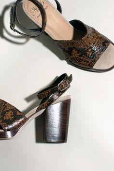 No.6 - Ochre Snake Luisa Heel | BONA DRAG
