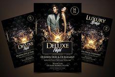 Deluxe Night - Luxury Elegant Flyer by Fidan Selmani on @creativemarket