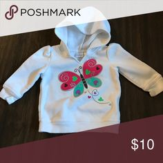 🍀2 for $12🍀12 Month Baby Girl Hoodie 12 month white butterfly Jumping Beans hoodie Shirts & Tops Sweatshirts & Hoodies