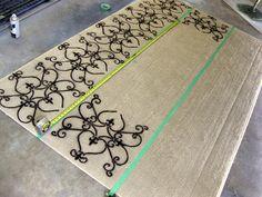 DIY Stenciled Rug Tutorial {Using Spray Paint!} - Sawdust and Embryos