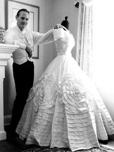 Jackie's wedding dress, designed by Anne Lowe. 9.12.53