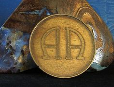 RARE Alcoholics Anonymous AA Logo Serenity Prayer Bronze Medallion Coin | eBay