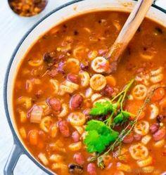 Vegetarian Cabbage Soup Recipe | ChefDeHome.com Vegetarian Cabbage Soup, Cabbage Soup Recipes, Vegetarian Recipes, Cooking Recipes, Healthy Recipes, Fast Recipes, Pasta Fagioli Crockpot, Pasta E Fagioli Soup, Mackerel Recipes