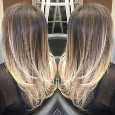 2 sessions and I completely altered this brassy, streaky head of hair to a Hair Color Balayage, Hair Highlights, Bayalage, Blow Hair, Hair Dos, New Hair Look, Corte Y Color, Long Brown Hair, Hair Color And Cut