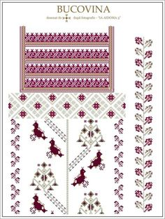 (1) Gallery.ru / Фото #33 - Буковина - румынские схемы - bdancer Cross Stitch Borders, Cross Stitch Designs, Cross Stitch Patterns, Embroidery Motifs, Embroidery Designs, Bordado Popular, Craft Patterns, Beading Patterns, Weaving