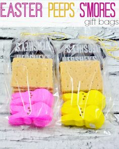 Easter PEEPS S'mores gift bags- so cute!