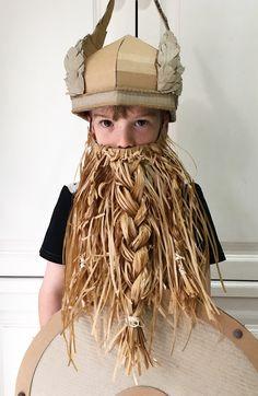 DIY Cardboard Viking helmet with wings by Zygote Brown Designs