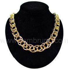 COLLAR FANTASIA ORO #Moda #Collar