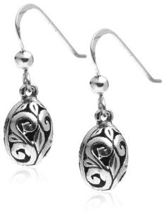 AMAZON SAID THEY WERE OUT ON NOV. 15, 2012 --- BUT CK BACK AGAIN!   Sterling Silver Filigree Oval Drop Earrings: Jewelry: Amazon.com
