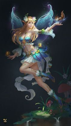 40 Beautiful Fairy Art By Anne Stokes Elfen Fantasy, 3d Fantasy, Fantasy Women, Anime Fantasy, Fantasy Girl, Fantasy Artwork, Beautiful Fantasy Art, Beautiful Fairies, Character Design Cartoon