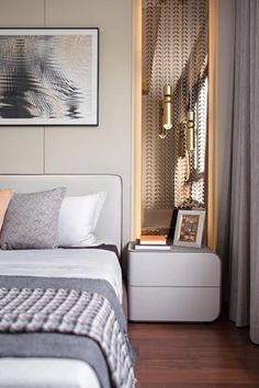 Simple and elegant, high-quality beauty: zhangjiagang zhong nan yue . Master Bedroom Interior, Bedroom Decor, Luxury Interior Design, Interior And Exterior, Marble Interior, Marble Countertops, Bathroom Countertops, Wall Cladding, Luxurious Bedrooms