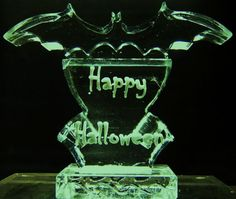 Double Bat Slide AppleIce.com #Bat #Halloween #Party #Needs #Event #Scary #Dry #Ice #Sculpture #Liquor #Slide #Punch #Bowl #Scary #AppleIce