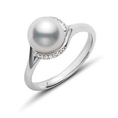 Plus noble 8 mm Golden Sud Shell Sea Pearl Round Bead Ring 7 8 9