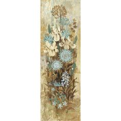 Found it at Wayfair - Floral Frenzy Blue II Painting Print on Wrapped Canvas
