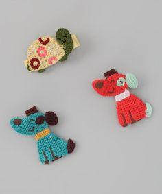Dog & Turtle Clip Set
