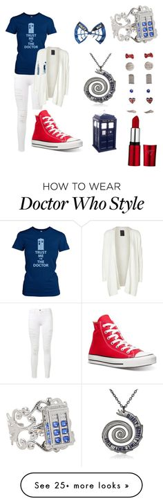 """""""Doctor Who❤️"""" by hwatson52 on Polyvore featuring Frame Denim, Converse and Minimum"""