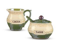 Amazon.com: Irish Celtic Ceramic Cream & Sugar with Spoon Set: Kitchen & Dining