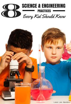 Are you starting on your DIY STEM adventures? These 8 Science and Engineering Practices helps kids learn the scientific process while building, creating, and solving problems #STEM